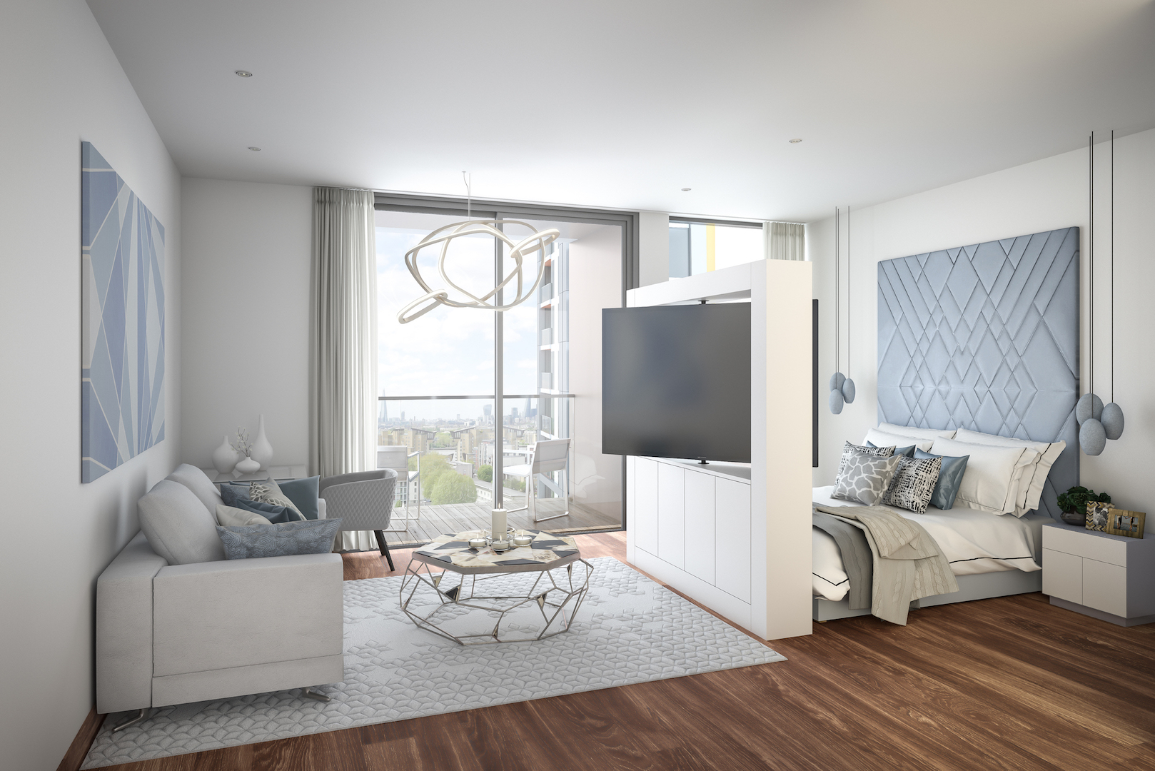 Artist's concept of Maine Tower Studio Apartment Pic: Galliard Homes