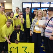 Parents and carers protested inside the Lewisham Town Hall this week