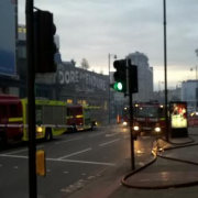 Fire Engines arrive on the scene to put out the flames