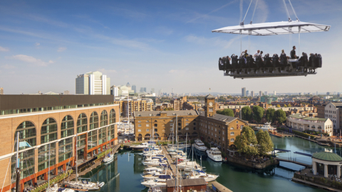 Sky-high dining Pic: St Katharine Docks