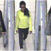 CCTV image of thee of the schoolgirls that escaped to Syria Pic: Met Police