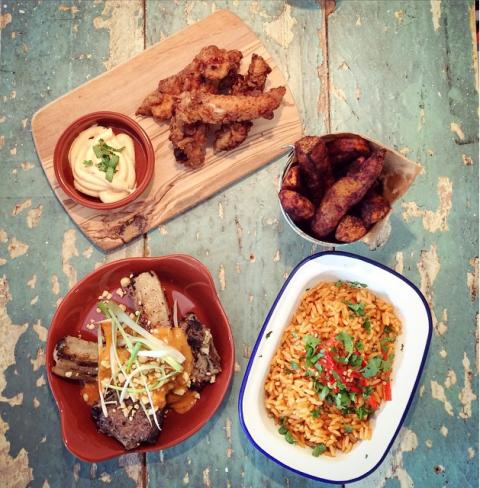 Zoe's Ghana Kitchen spread