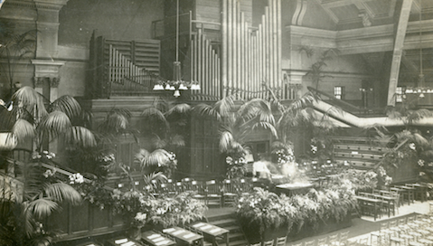 Pic: Goldsmiths University Great Hall on formal opening day, September 29, 1905. Credit: Goldsmiths, University of London - Special Collections & Archives