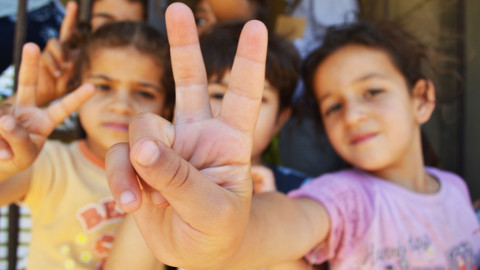 Syrian children refugees. Pic: Wikipedia Commons