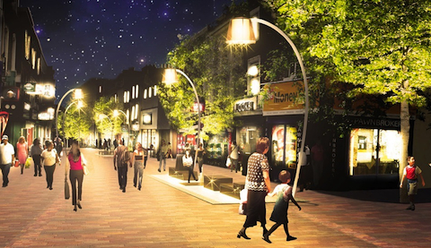 Pic: Proposal drawings of more 'pedestrian friendly' Narrow Way. Credit: Hackney Council