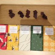 The five different chocolates. Pic: Claudia Decarli.