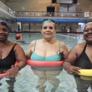 (left to right) Abigail, Maria and Patou take advantage of Hackney Council's offer of free exercise for over-50s - Credit: www.voice-online.co.ukt