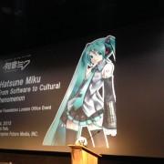 Hatsune Miku Lecture. Pic: Claudia Decarli.