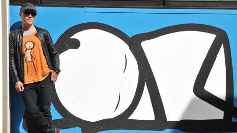 Pic: Stik's Sleeping Baby mural at Homerton Hospital. Credit: Homerton Hospital.