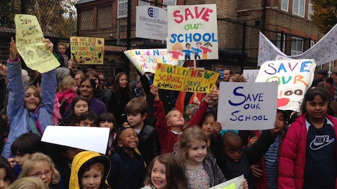 More than 500 people have signed a petition against the proposed expansion of Edmund Waller Primary School Pic: Stephanie Liptrot