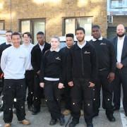 Pic: Hackney Homes nine new apprentices. Credit: Hackney Homes