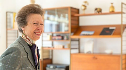 Princess Anne visited visited the Pocket development near Hackney Downs station this week Pic: Pocket