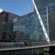 South Quay Footbridge in London. Credit: Creative Commons.