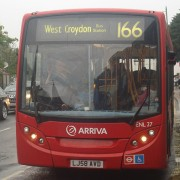 Croydon's 166 bus -  source wikimedia commons