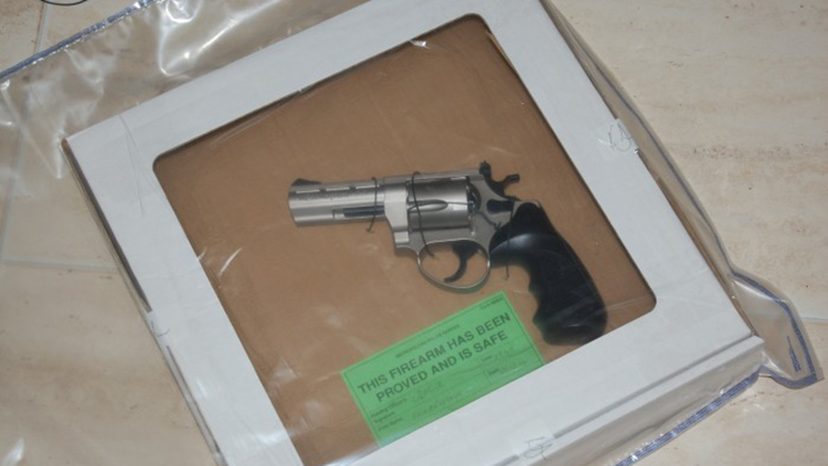 One of the guns seized by police. Credit: Metropolitan Police