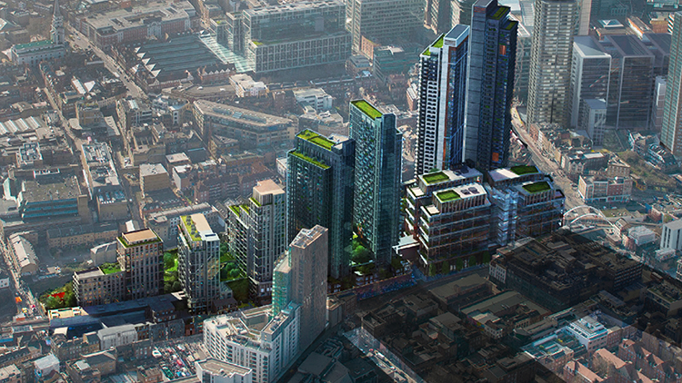 A CGI impression of the development Pic: Hammerson & Ballymore