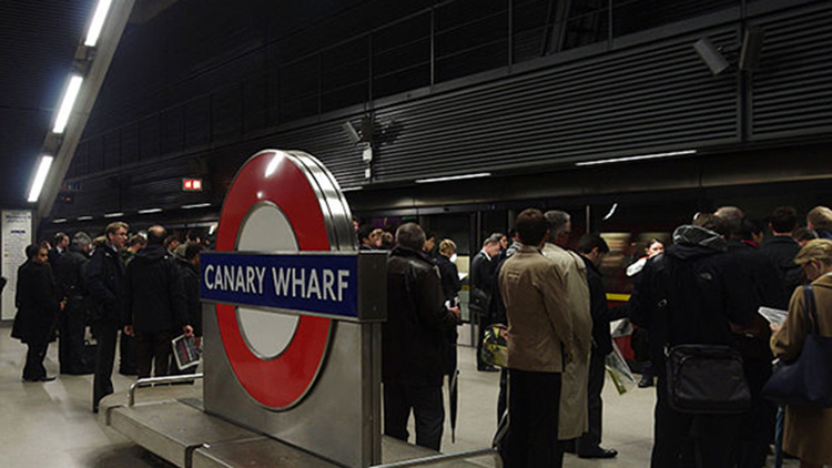 Canary Wharf is the busiest station in East London. Image credit: Matt Buck
