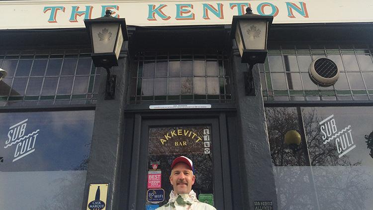 Egil Johansen outside his award winning pub, The Kenton. Pic Emmanuella Kwenorty