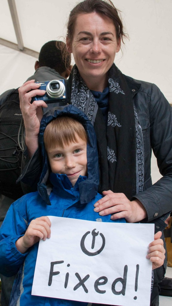Happy customers using Hackney Fixers. Pic Kate Hand