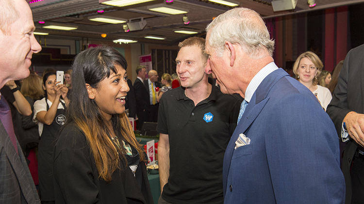 Stoke Newington's Abi Rahman, is one of many social entrepreneurs who met the Prince Pic: BITC