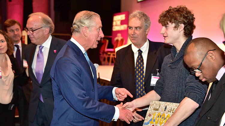 The Prince of Wales joined business leaders in east London to celebrate job creation Pic: BITC