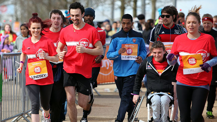 140,000 people participated in Sainsbury's Sport Relief Games 2014 Pic: Comic Relief