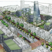 An artist's vision of Whitechapel Road in 2030 Pic: New Local Plan of Tower Hamlets