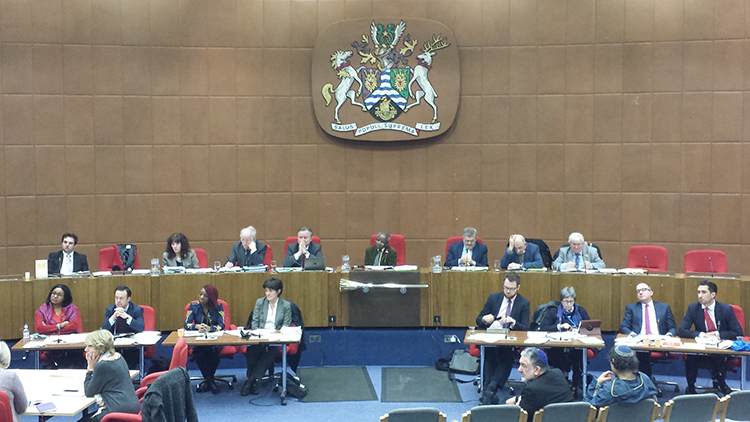 Councillors during Wednesday's meeting