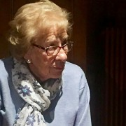 Eva Schloss in Croydon ahead of Holocaust Memorial Day. Pic: Alex Jackson