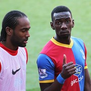 Yannick Bolasie's last game with CPFC was the week before Christmas. With Cameron Jerome. Pic: Docteur es sport/Flickr