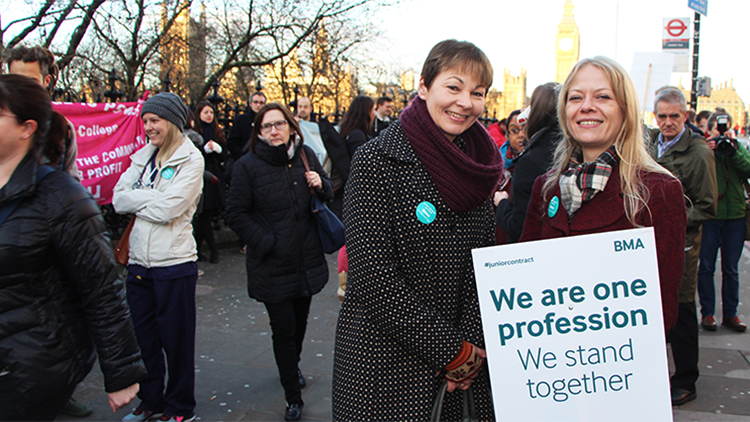 London Green mayoral candidate Sian Berry and MP for Brighton Pavilion, Caroline Lucas. Photo credit: Sophie Bishop