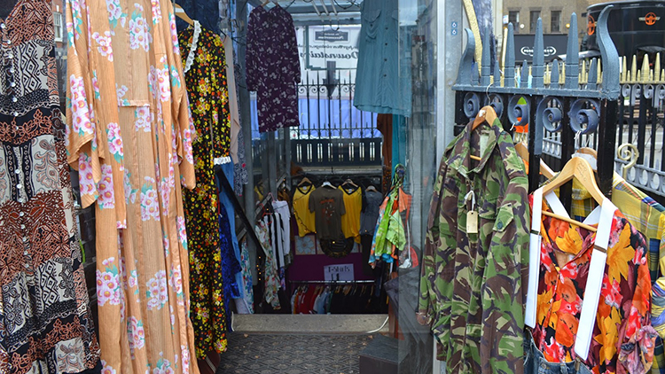 The former toilets as a vintage shop. Pic: Rosie's Closet / Rosie Jervis