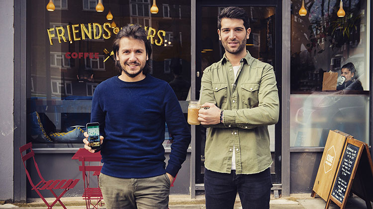 Ruben and Jeremy Outside Friends of Ours coffee shop