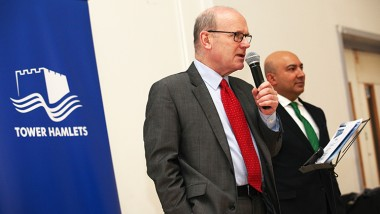 The Mayor of Tower Hamlets John Biggs aims to open up Whitechapel for more business. Credit: Tower Hamlets Council