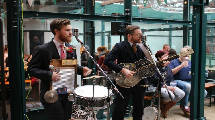 The Washboard Resonators performing during the Gin Festival. Pic: Rebecca Henrys