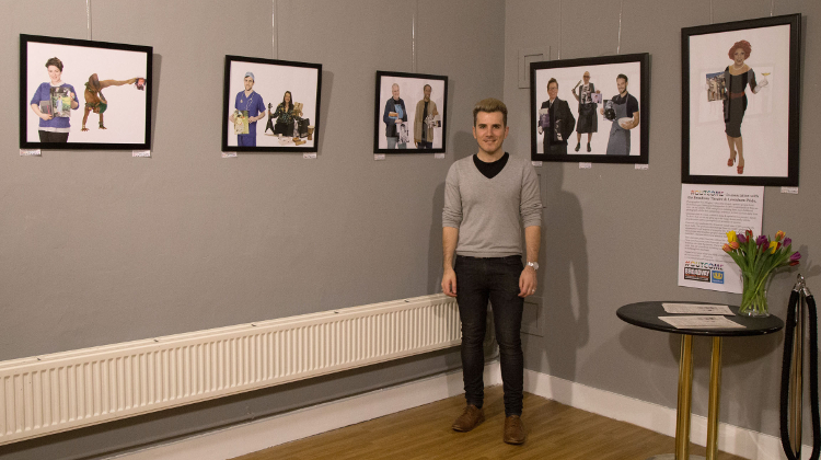 Outcome Portrait Exhibition in Lewisham. Pic: Tom Dingley