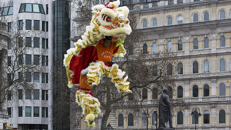 Lion dance celebrates Chinese New Year last year. Pic: Katie Chan