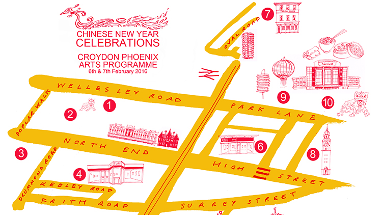 Map of the Phoenix art program 2016 this weekend. Pic: Friends of the Phoenix Croydon