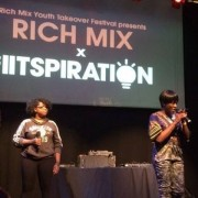Participants take to the stage at Rich Mix. Pic: Juliet Moore