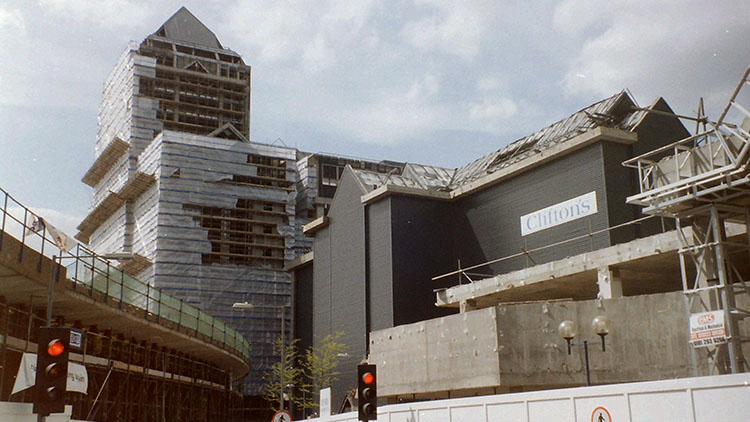 South Quay DLR station damaged by the 1996 bomb blast. Pic: Tim@SW2008