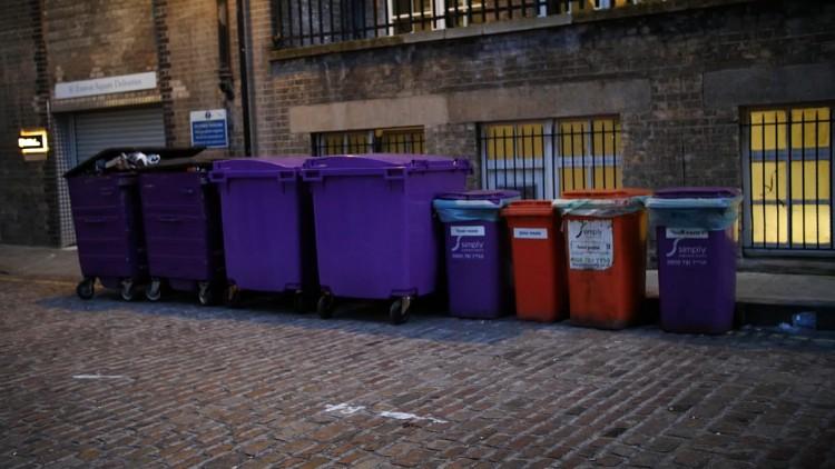 Recycling bins. Pic: Simisola Jasmine Jolaoso