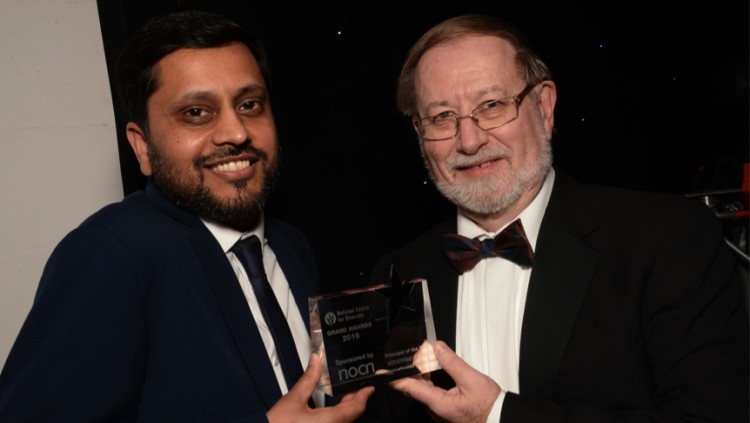 Mohammed Ramzan, Principal of John Ruskin College and Graham Hasting-Evans, Managing Director of NOCN (National Open College Network). Pic: MKI Photo