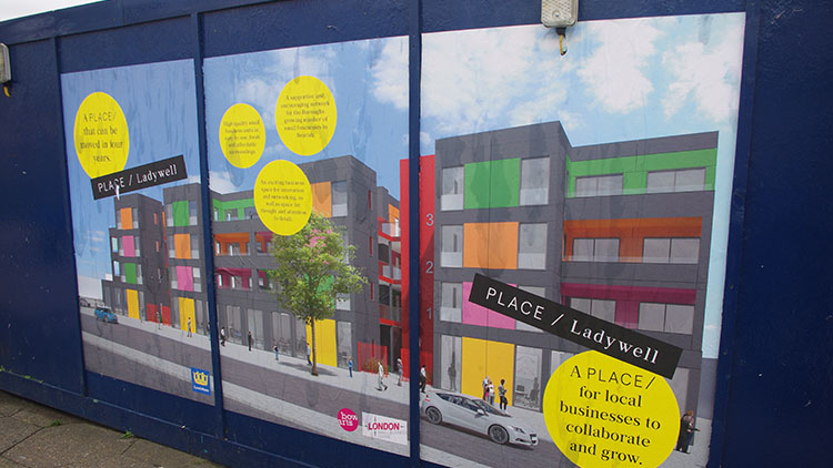 The innovative project by Lewisham council to provide much needed housing for the homeless. Pic: Danielle Tatton