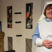 Teaching assistant Anne Veitch dressed as a VAD nurse. Pic: Shima Begum