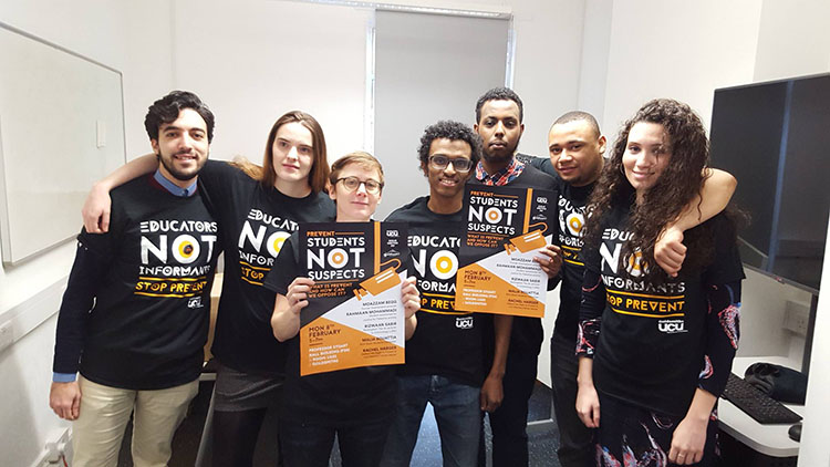 Goldsmiths students voice opposition to Educations Not Suspect Campaign. Pic: Hannah Dee