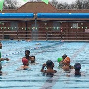 SwimLondon2016 swimming lessons kicked off to enable 225 new swimmers. Pic: Bernadette Borja