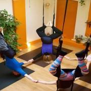 Aerial yoga . Pic: Aerial Yoga London Facebook