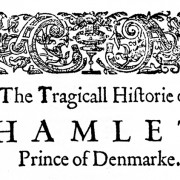The first folio edition of Hamlet by William Shakespeare