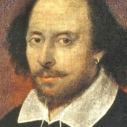 The famous portrait of William Shakespeare which can be found in the National Portrait Gallery.