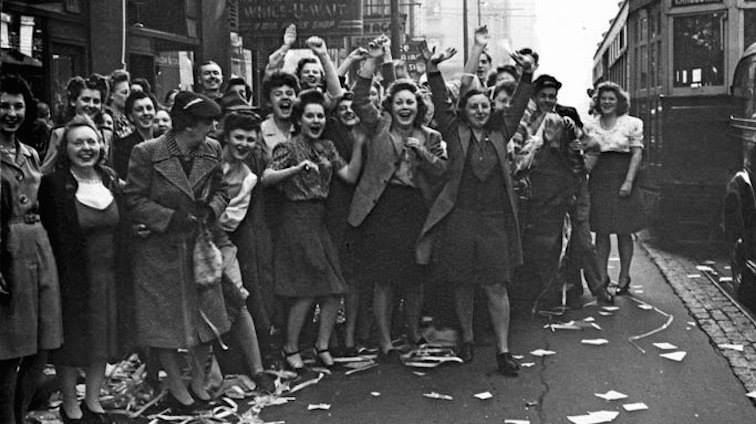 Women celebrating. Pic: Wikimedia Commons